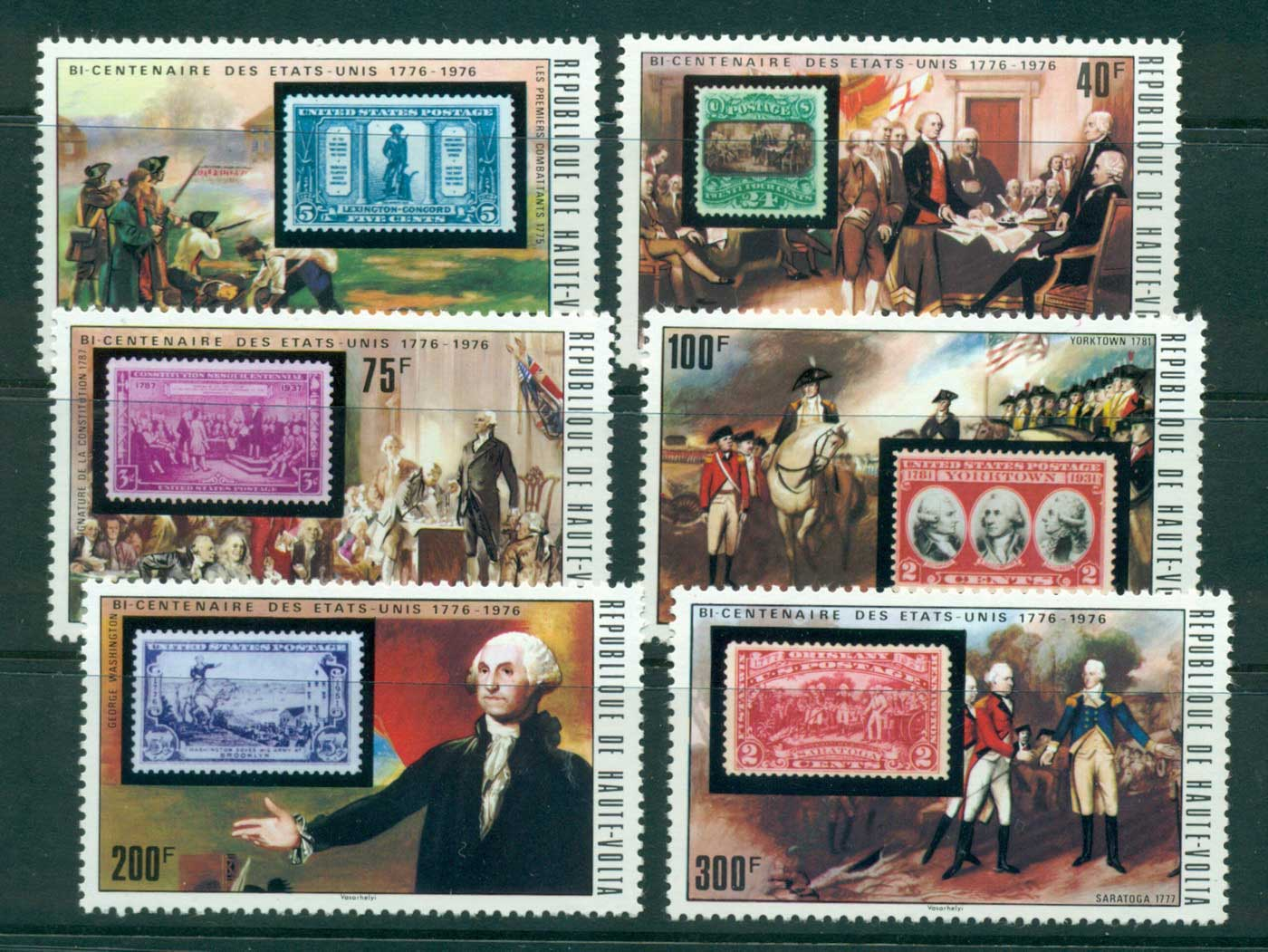 Upper Volta 1975 USA Bicentennial MUH lot38401