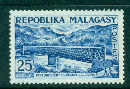 Madagascar 1962 Train Bridge MLH lot38453