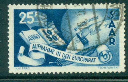 Saar 1950 Council of Europe FU lot38469