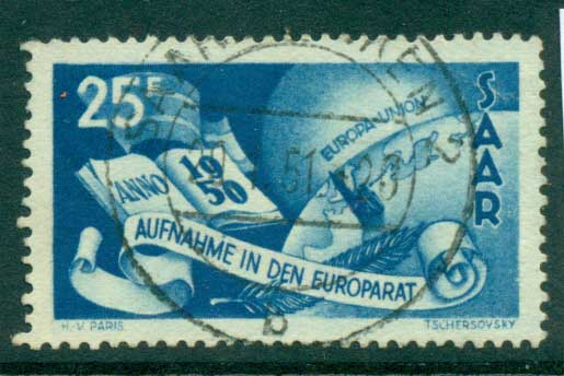 Saar 1950 Council of Europe FU lot38470
