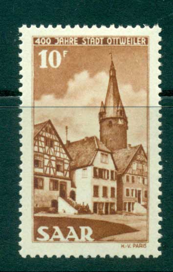 Saar 1950 Founding of Ottweiler Anniv. MLH lot38472
