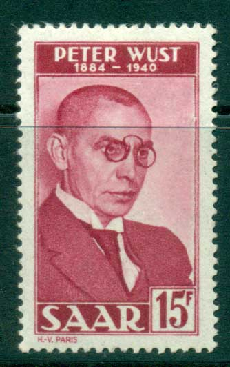 Saar 1950 Peter Wust MLH lot38479