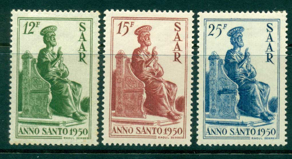 Saar 1950 Holy Year MLH lot38481