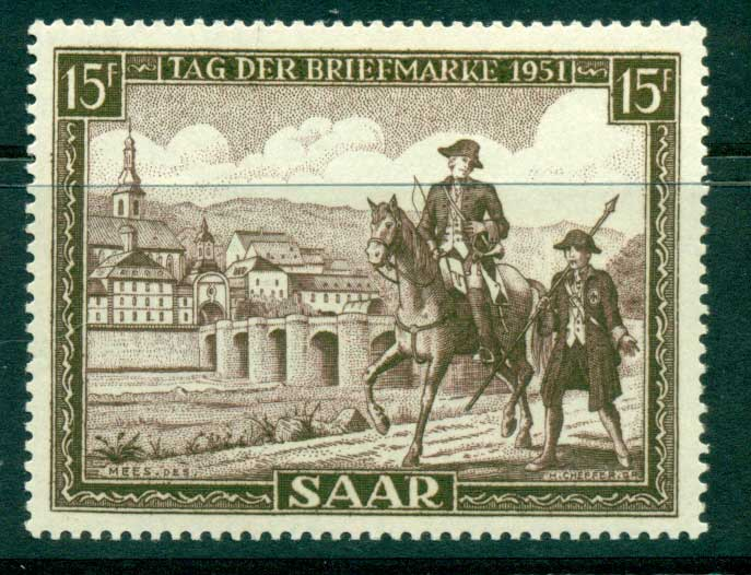 Saar 1951 Stamp day MUH lot38484