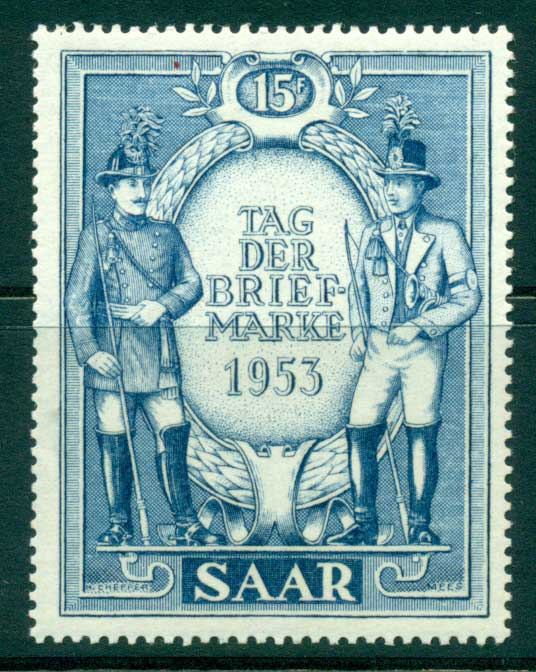 Saar 1953 Stamp Day MLH lot38490