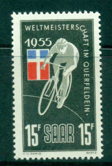 Saar 1955 Bicycle race MUH lot38501