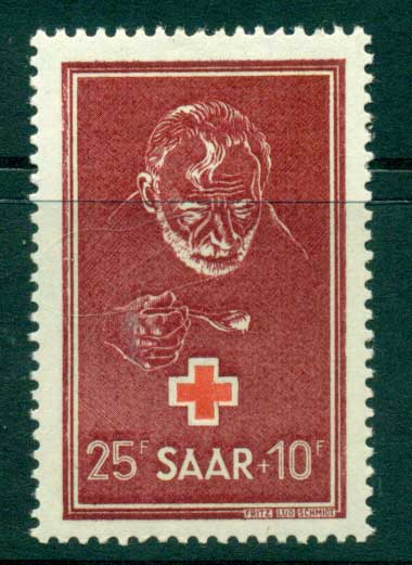 Saar 1950 Relief for the Hungry Red Cross MLH lot38508