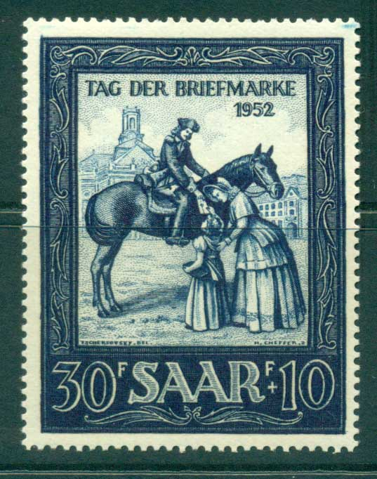 Saar 1952 Stamp Day MLH lot38511