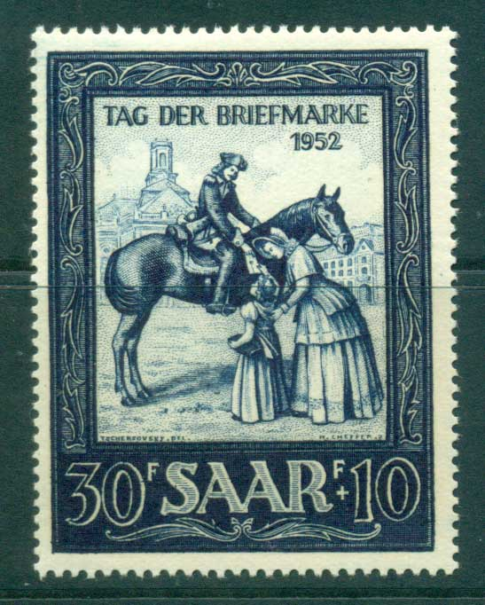 Saar 1952 Stamp Day MUH lot38512