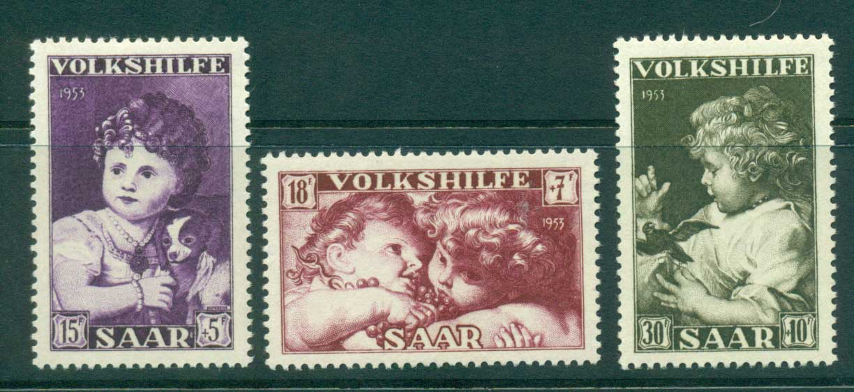 Saar 1953 Child Welfare MLH lot38513