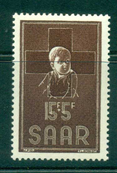 Saar 1954 Red Cross MUH lot38515