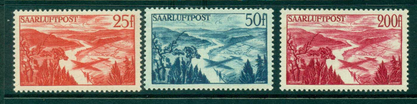 Saar 1948 Air Mail MLH lot38525