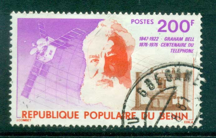 Benin 1976 Centenary of Telephone FU lot38543