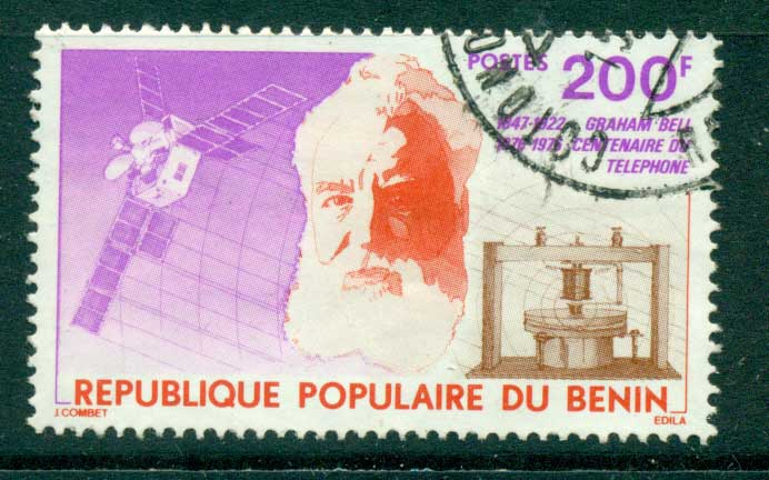 Benin 1976 Centenary of Telephone FU lot38544