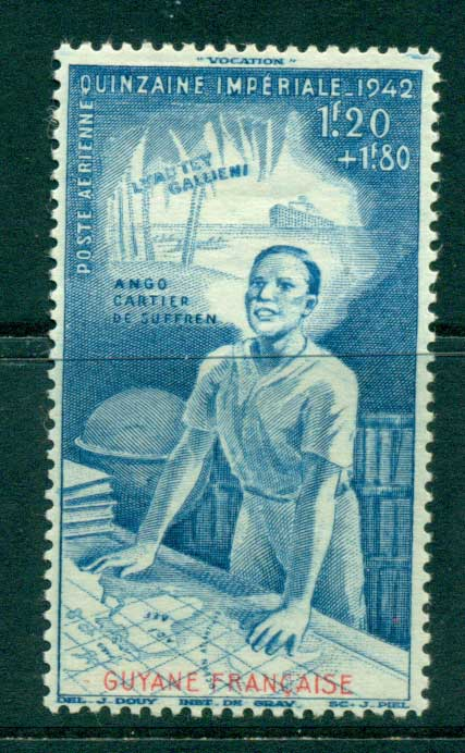 French Guiana 1942 Colonial Education Fund MH lot38618