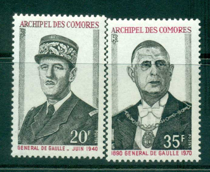 Comoro Is 1971 Charles de Gaulle MUH lot38751