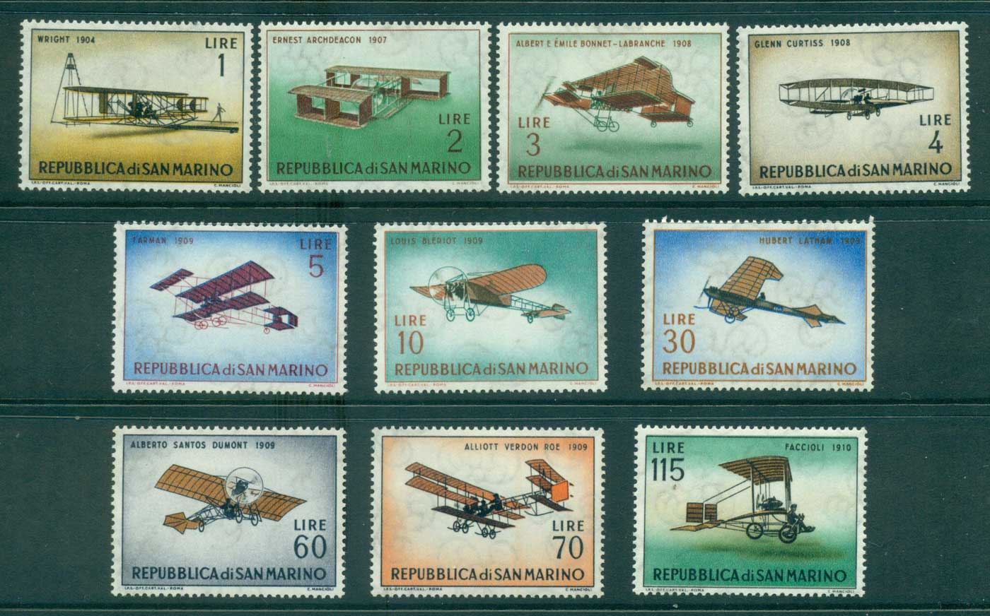 San Marino 1962 Historic Planes MLH lot40096