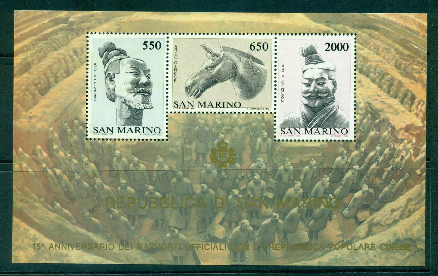 San Marino 1986 Diplomatic Relations with China MS MUH lot40269