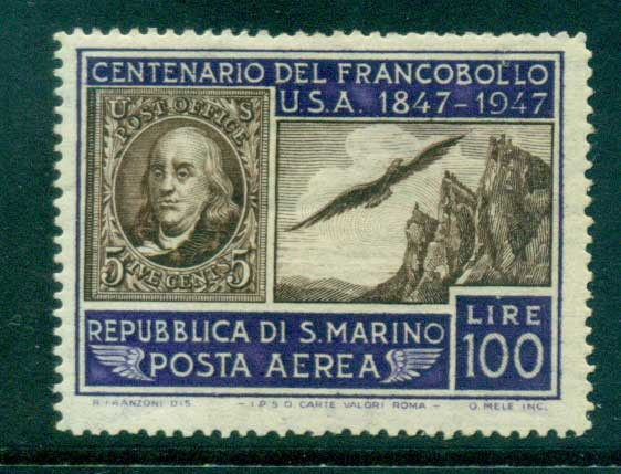 San Marino 1947 USA #1 & Mt. Titano MUH lot40305