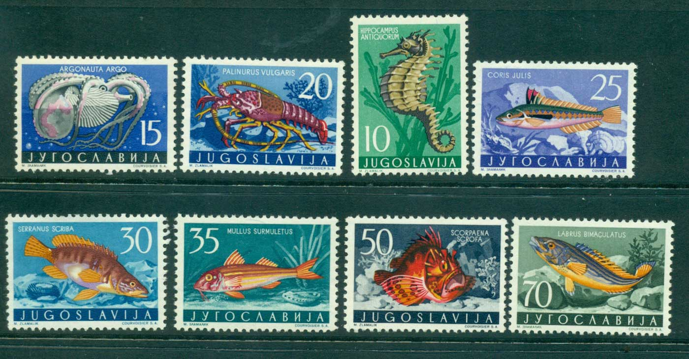 Yugoslavia 1956 Fish Marine Life to 70d MLH lot40465