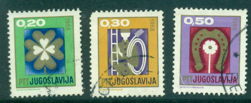 Yugoslavia 1967 New year FU lot40577