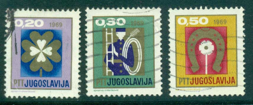 Yugoslavia 1968 New Year FU lot40587