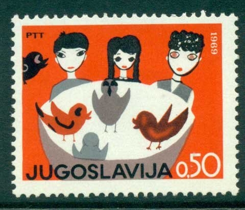 Yugoslavia 1969 Children's Week MLH lot40598