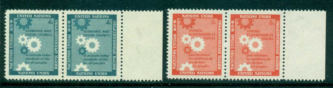 UN New York 1957 Honouring the Economic & Social Council pair MUH lot40898