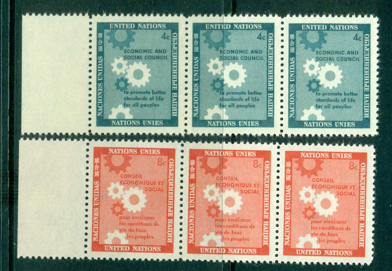 UN New York 1957 Honouring the Economic & Social Council Str 3 MUH lot40899
