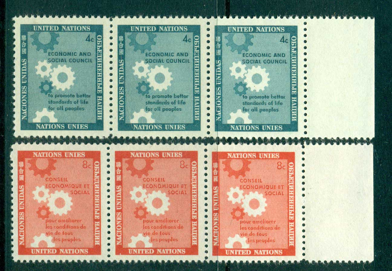 UN New York 1957 Honouring the Economic & Social Council Str 3 MUH lot40900