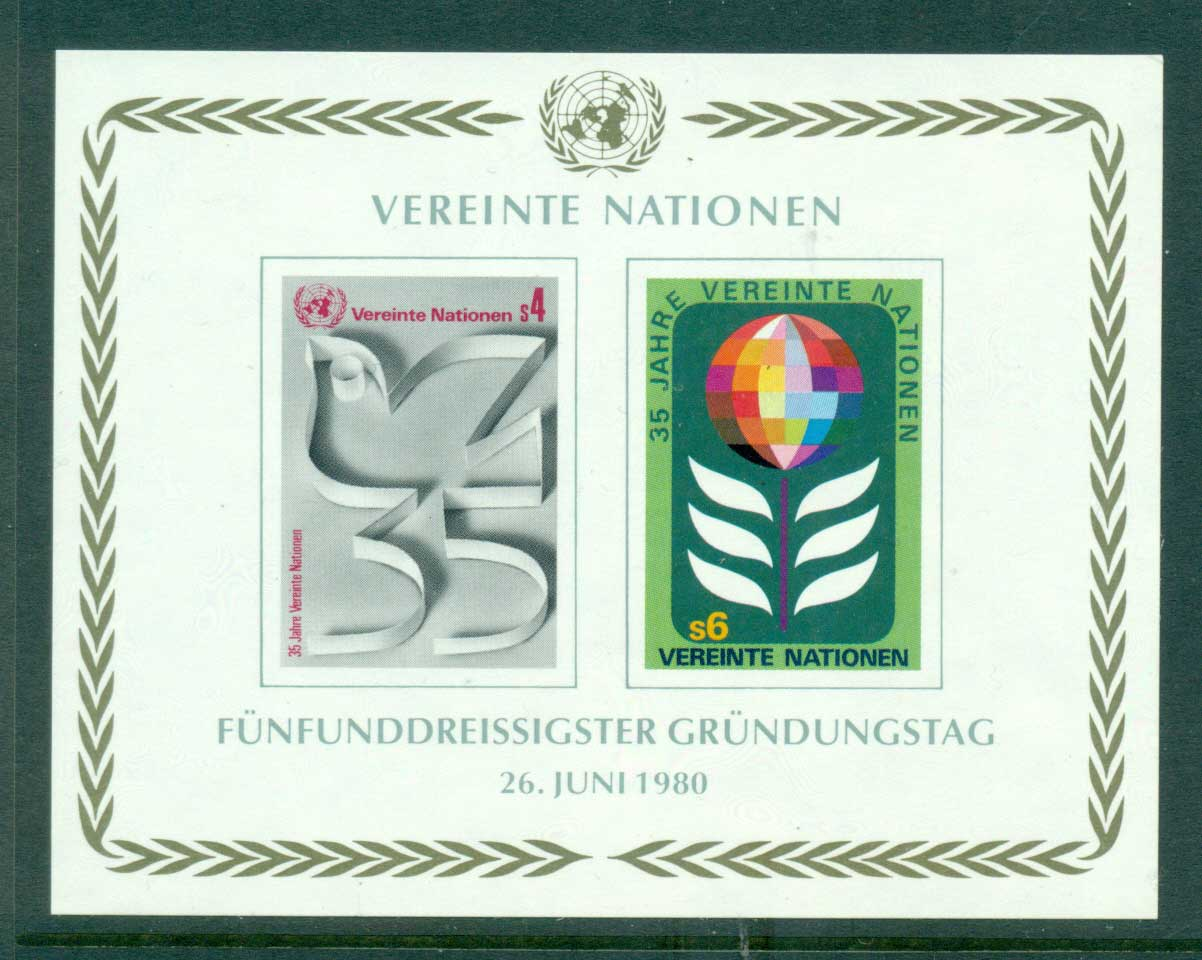 UN Geneva 1980 35th Anniversary of UN MS MUH lot40936
