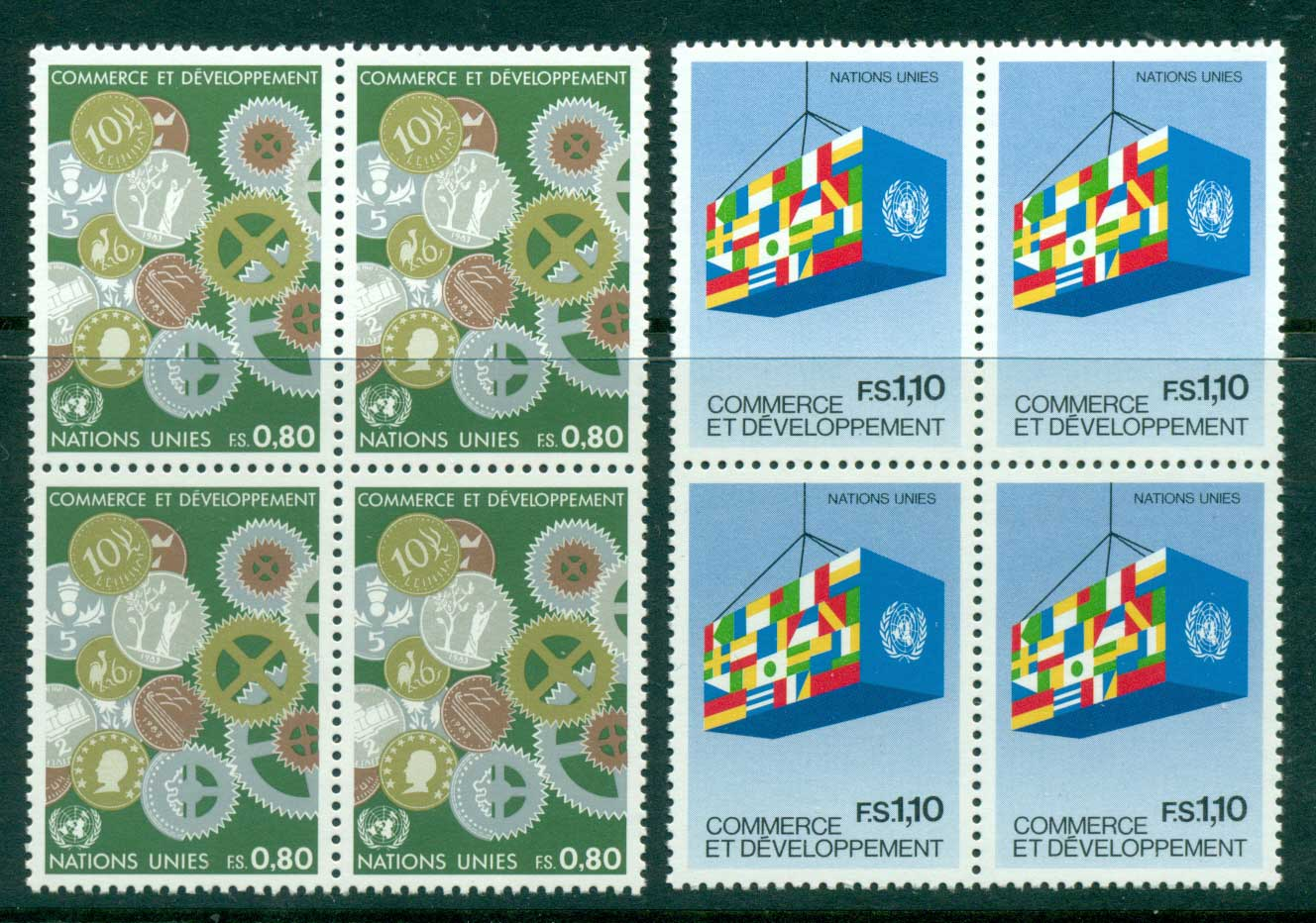 UN Geneva 1983 Trade & Development Blk 4 MUH lot40968