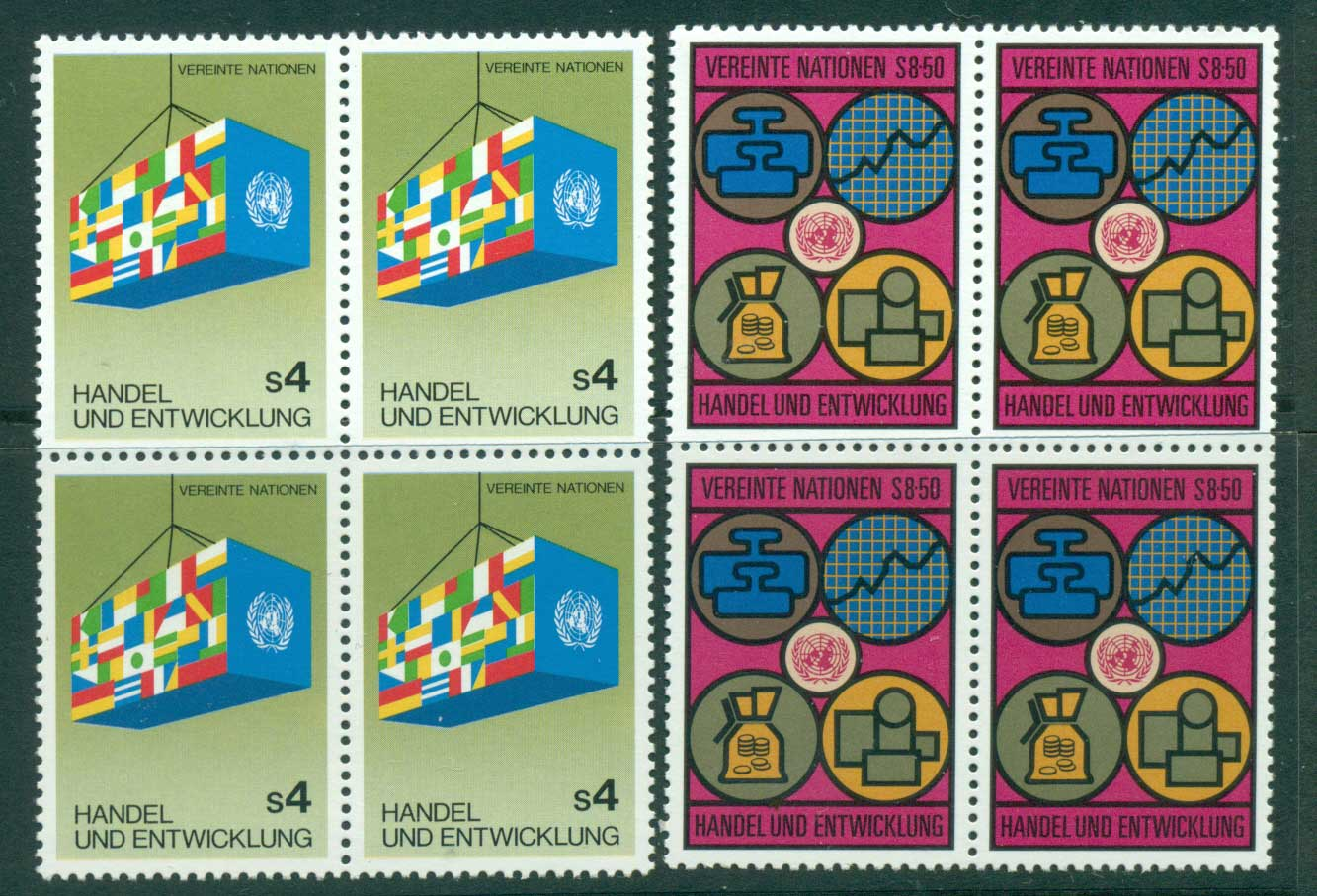 UN Vienna 1983 Trade & Development Blk 4 MUH lot40970