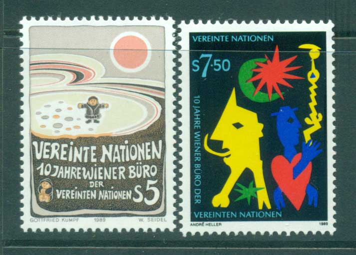 UN Vienna 1989 10th Anniv. Offices in Vienna MUH lot40982