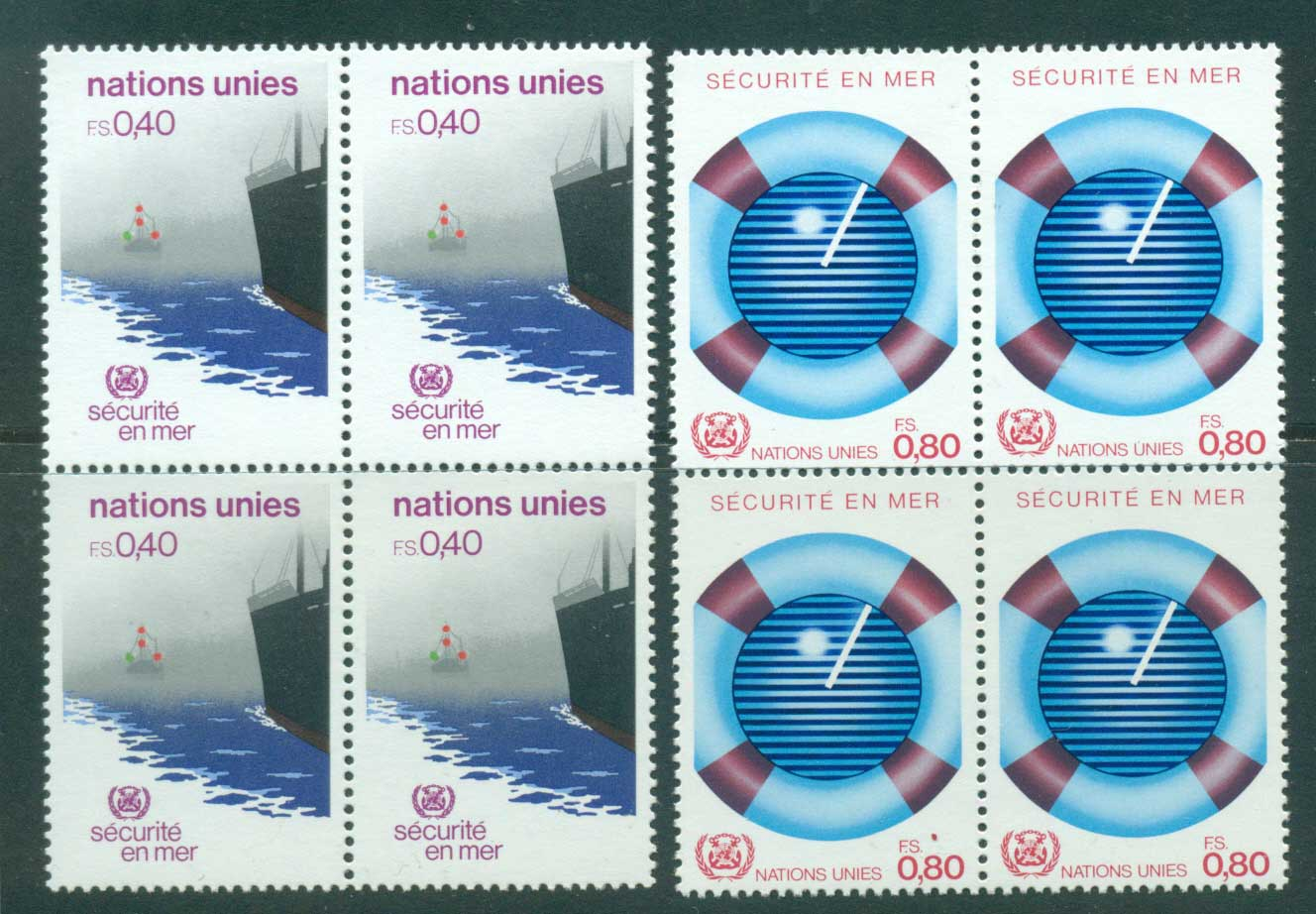 UN Geneva 1983 Safety at Sea Blk 4 MUH lot41002