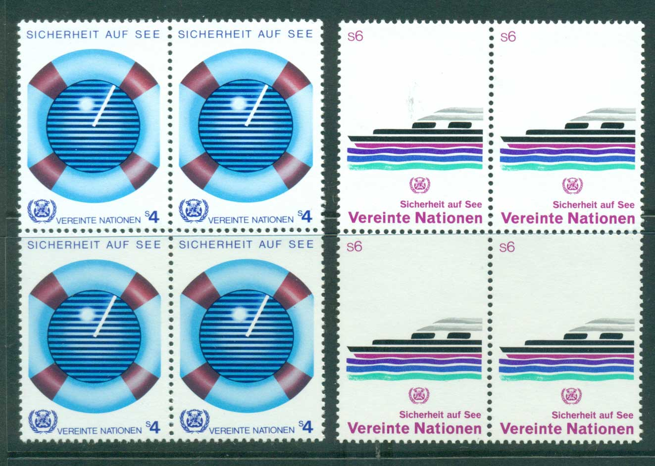 UN Vienna 1983 Safety at Sea Blk 4 MUH lot41004