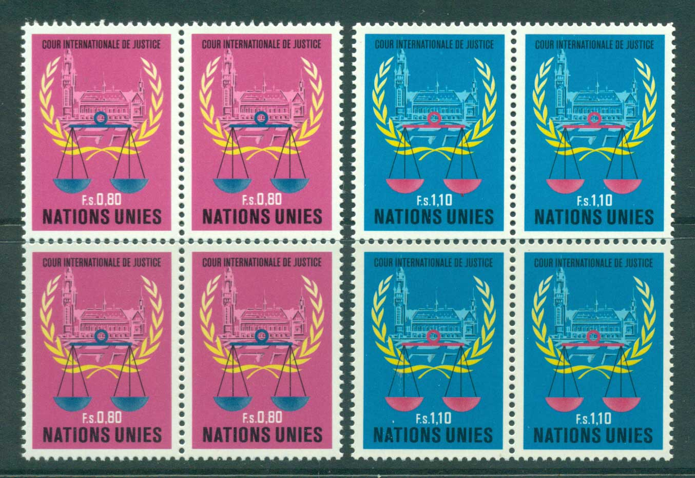 UN Geneva 1979 International Court of Justice Blk 4 MUH lot41008