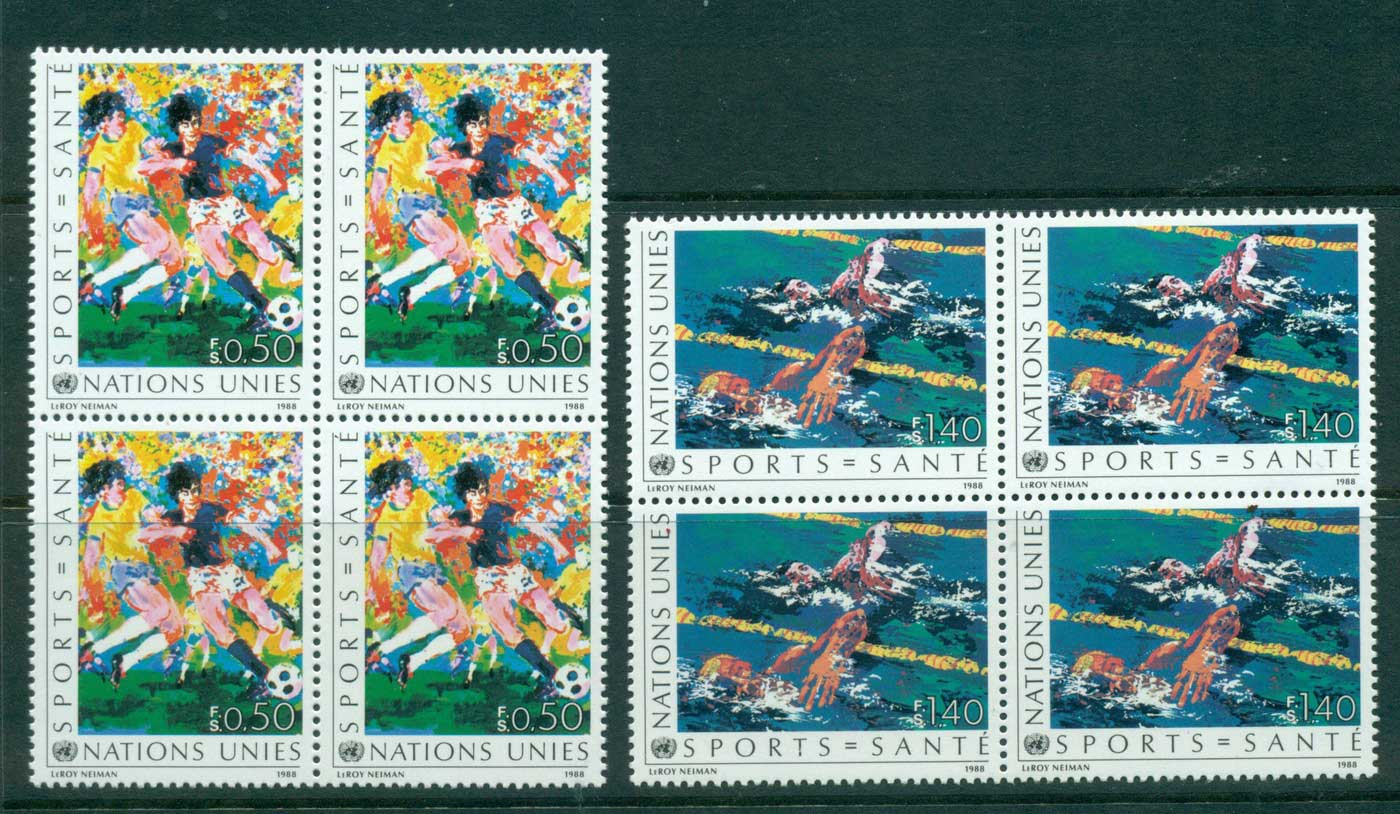 UN Geneva 1988 Health in Sports Blk 4 MUH lot41017