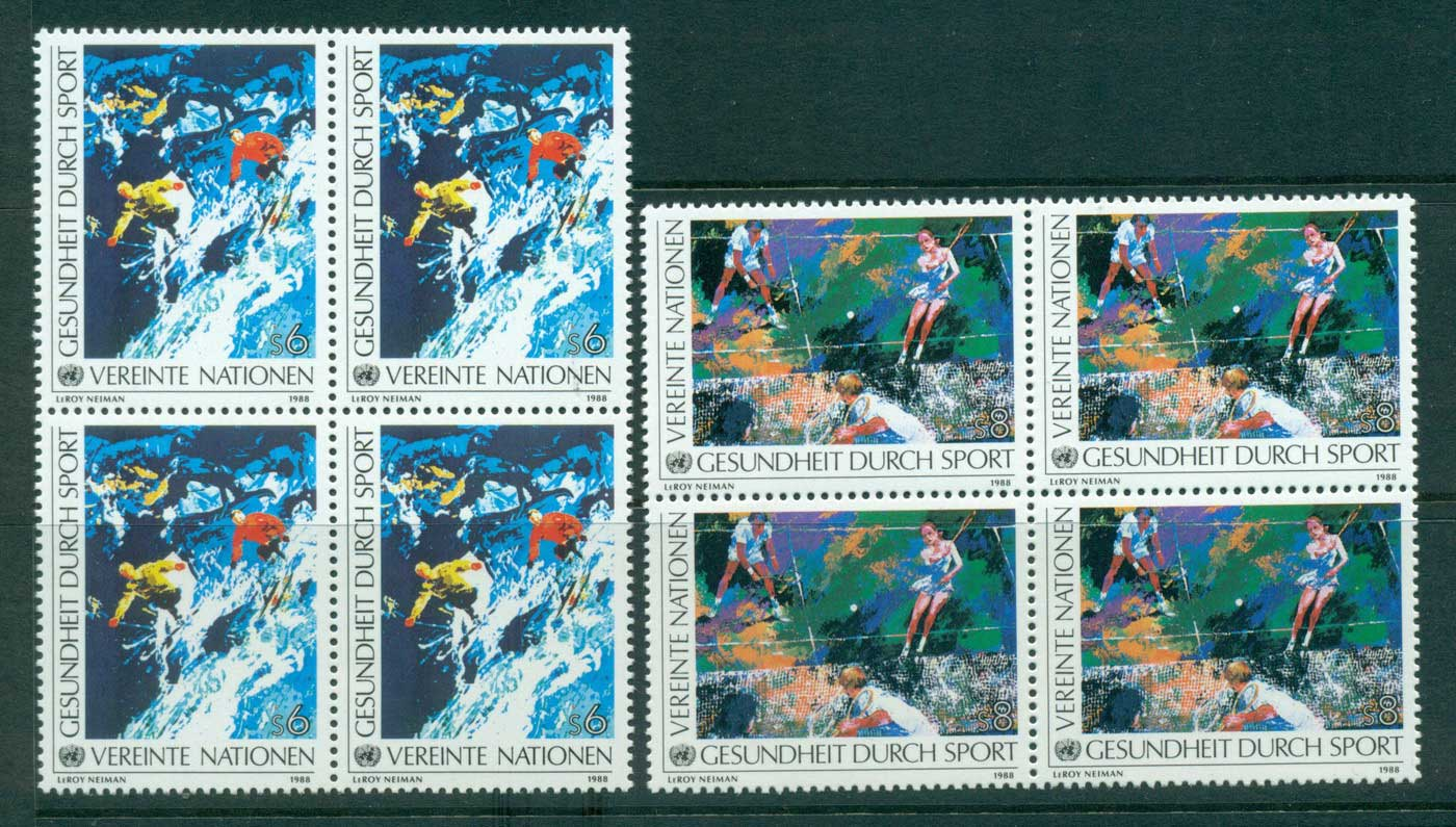UN Vienna 1988 Health in Sports Blk 4 MUH lot41018