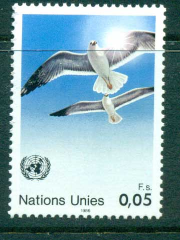 UN Geneva 1986 Doves & Sun MUH lot41020