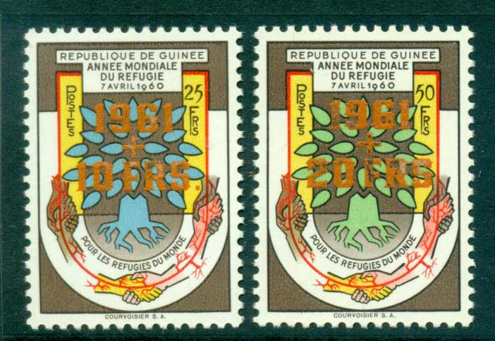 Guinee 1960 World Refugee year Orange Opts MUH lot41625