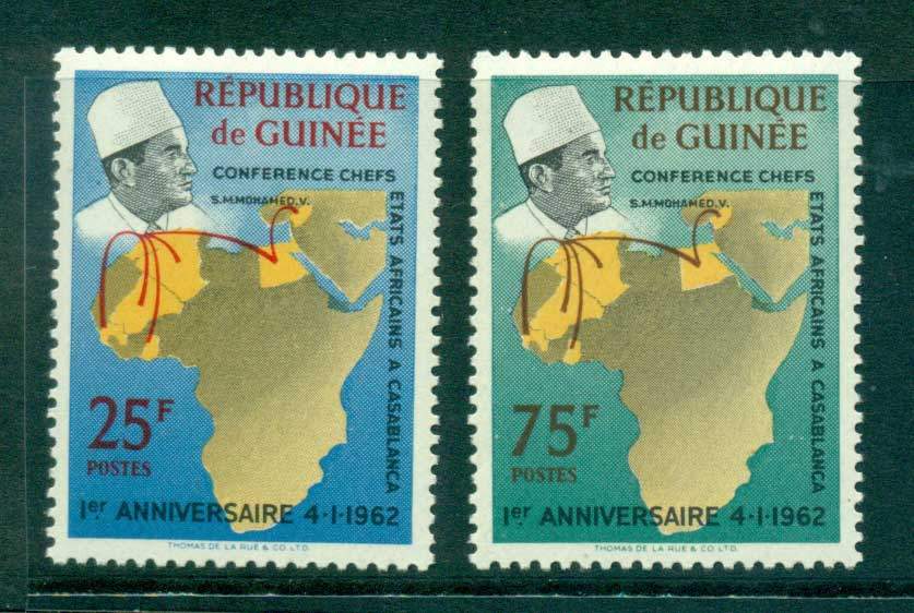 Guinee 1962 Casablance heads of State Conf. MUH lot41630