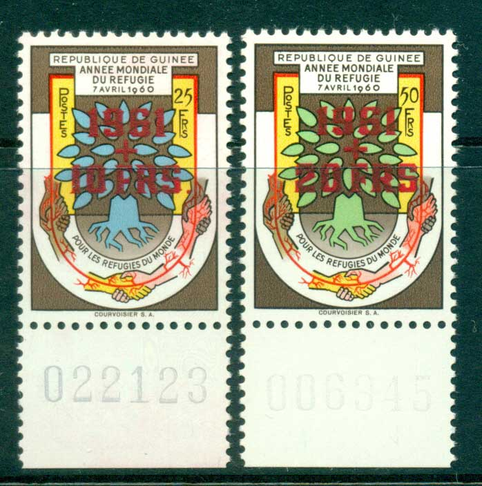 Guinee 1960 World Refugee year Red Opts MUH lot41639