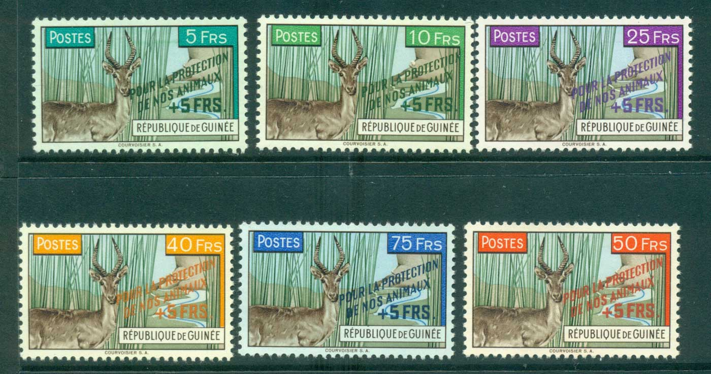 Guinee 1961 Defassa Waterbuck Opt for Animal Protection MUH lot41640