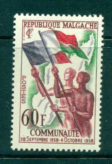 Madagascar 1959 French Community MUH lot41690