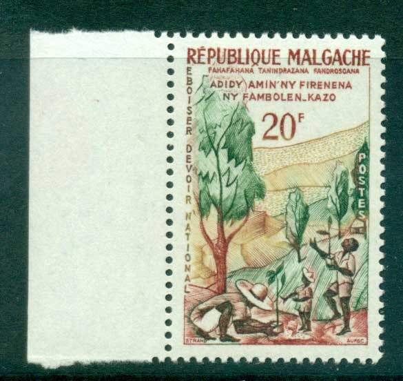 Madagascar 1960 Week of the Tree MUH lot41692