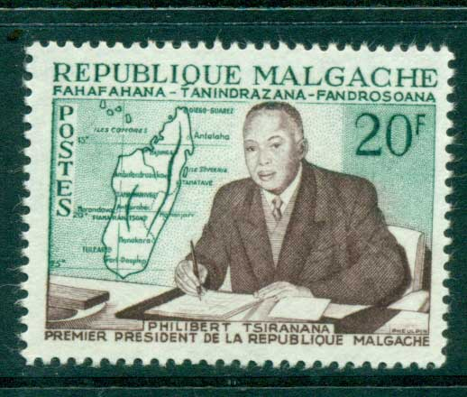 Madagascar 1960 Pres. Philibert Tsiranana MUH lot41694