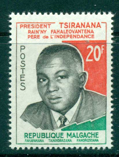 Madagascar 1960 Pres. Philibert Tsiranana MUH lot41697