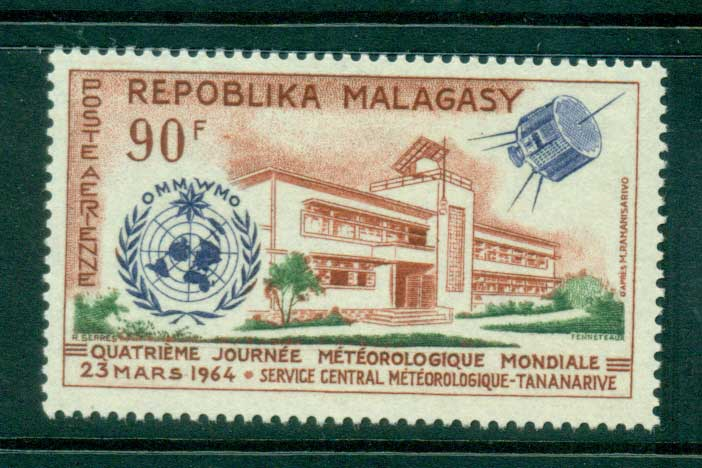 Madagascar 1964 World Meterological day MUH lot41714