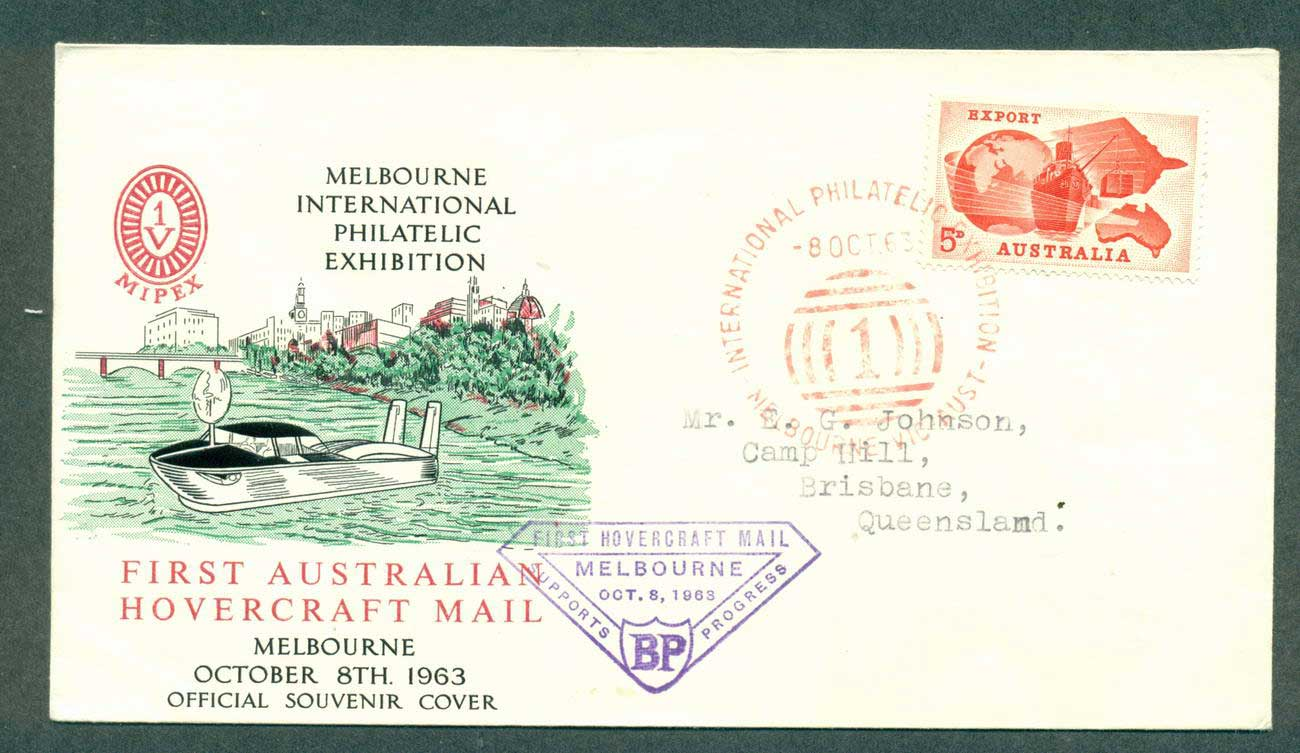 Australia 1963 First Hovercraft Mail Flight 8 Oct 63 lot42647
